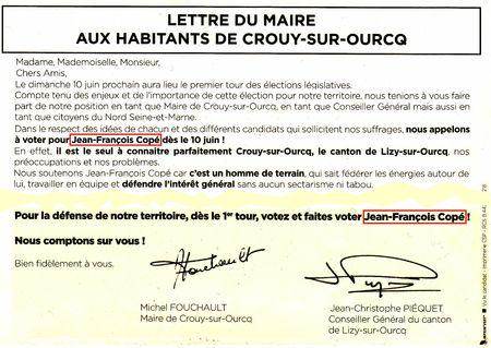 Extrait lettre du Maire de Crouy-sur-Ourcq (100612)