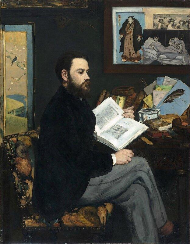Portrait d'Émile Zola_MANET 1883