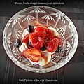 Coupe fruits rouges mascarpone spéculoos