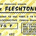 The fleshtones - vendredi 15 mai 1987 - la locomotive (paris)