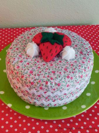 Gâteau en tissu dînette feutrine Au pays des Cactus 1