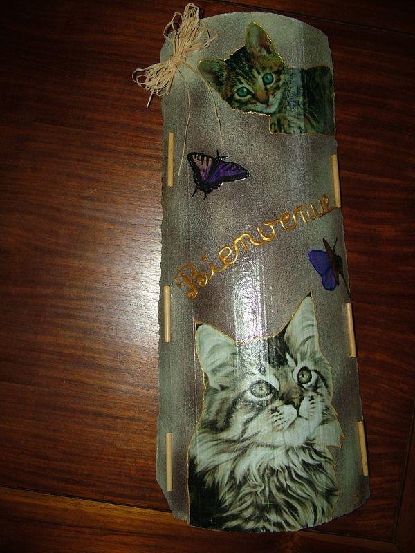 Tuile Chats et papillons