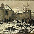 Grolleron, attaque d'un château par les mobiles, 1870