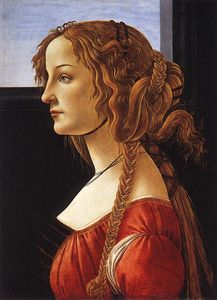 1480 Sandro BOTTICELLI, Portrait of a Young Woman