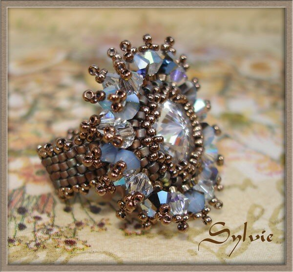 bague crystal burst cristal shadow profil