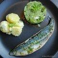 Taboulé de légumes et filets de maquereaux à la plancha
