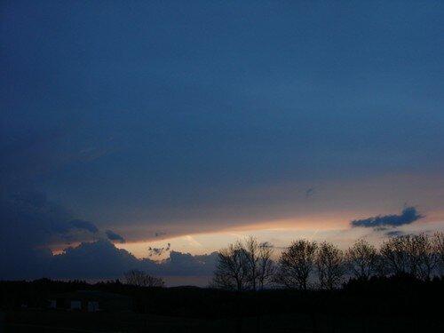 2008 05 04 Le coucher du soleil direction Nord