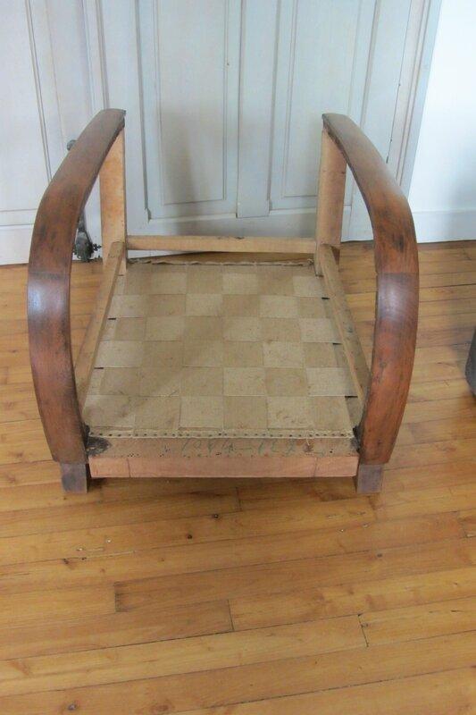 restauration d'un fauteuil art déco