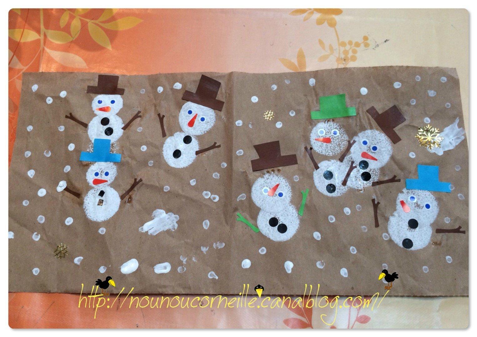 Bonhommes de neige d'Ethan 01/2015