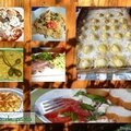Montages des plats du dimanche,du jour.