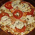 Pizza saumon, boursin