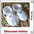 chaussons babies