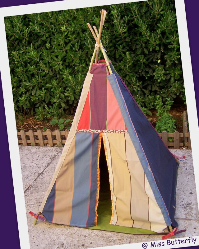 un tipi pour petitou les projets de miss butterfly. Black Bedroom Furniture Sets. Home Design Ideas