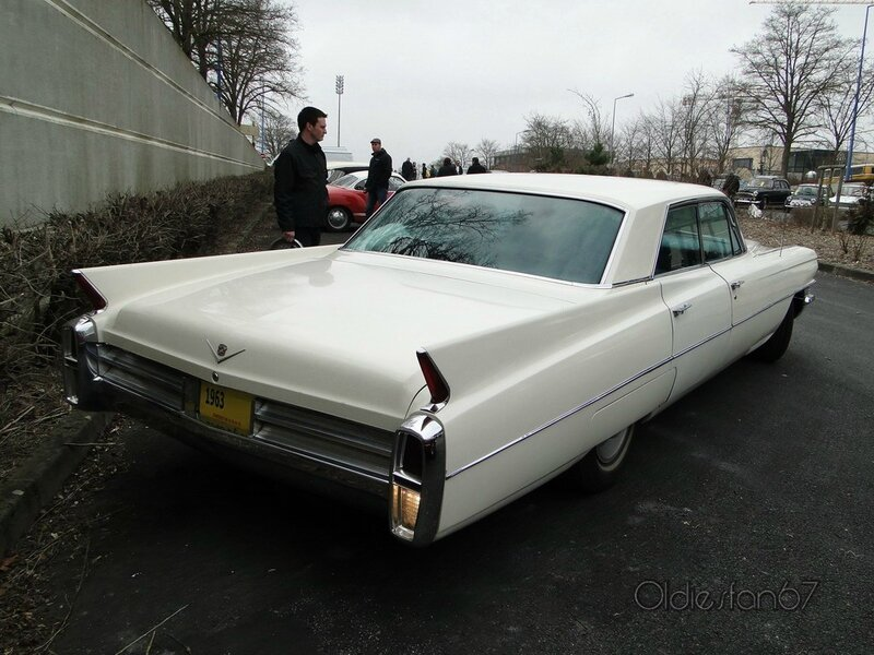 cadillac deville 4window hardtop sedan 1963 b