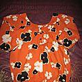 Débrdeur orange fleuri - 6 € °vendu°