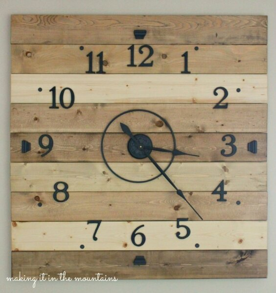 4DIY-Wood-Plank-Clock-making-it-in-the-mountains
