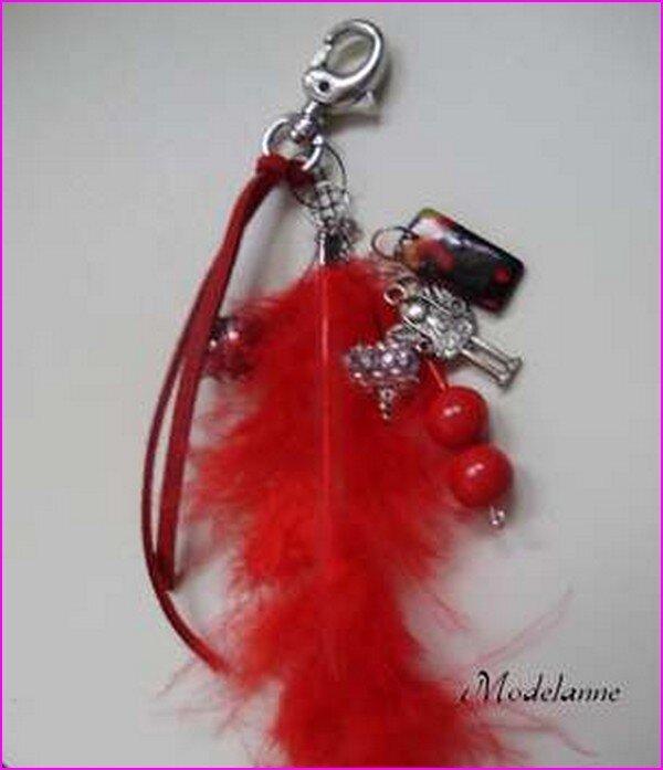 bijoux de sac rouge 205b