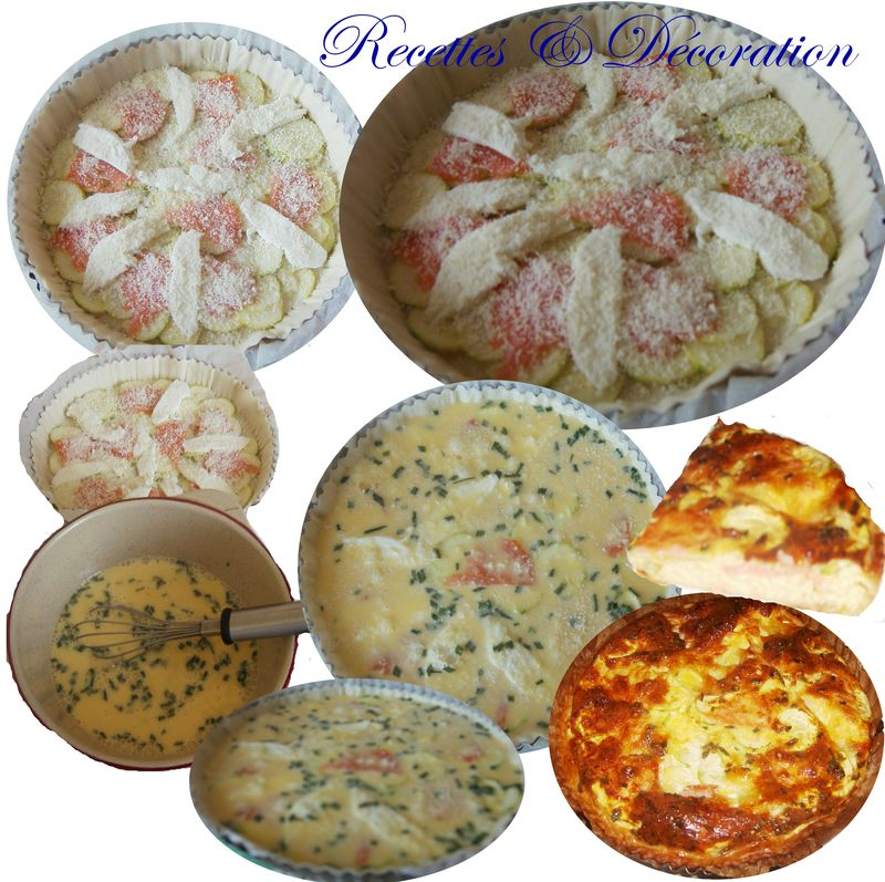 La courgette en quiche recettes et d coration for Decoration quiche