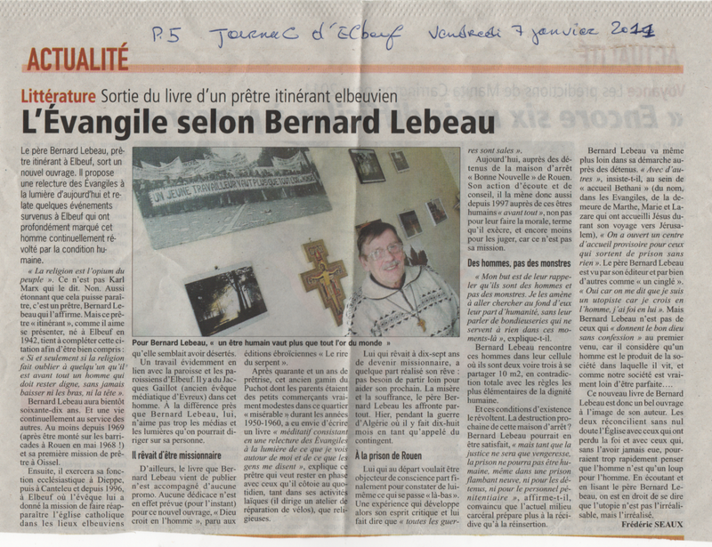 Dieu croit en l'homme - Bernard Lebeau