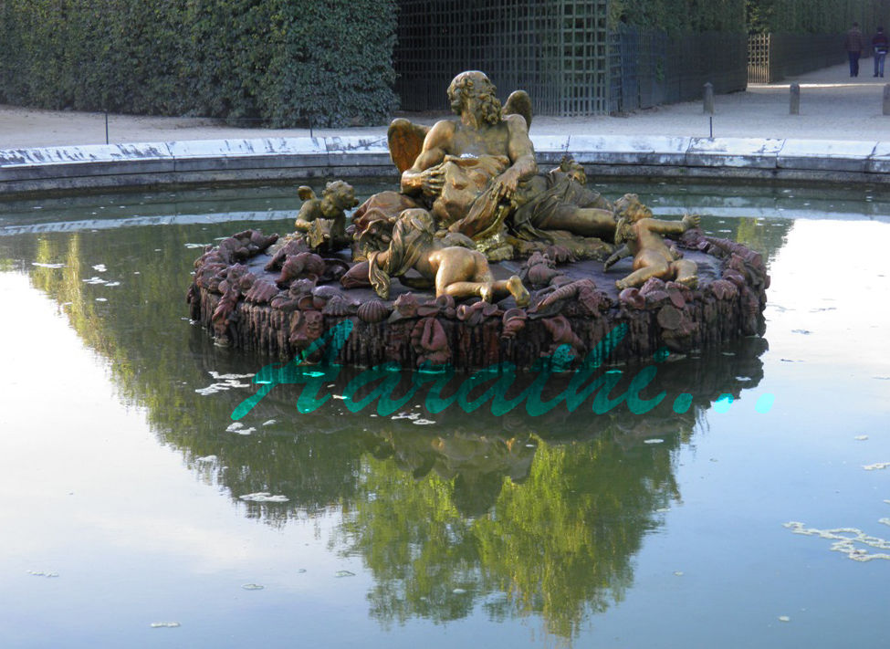 Saturn / Winter Fountain, Versailles.