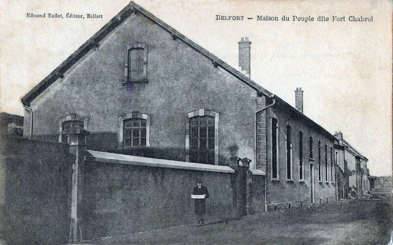 Belfort CPA Maison Peuple Rue du lavoir 1900-03 2