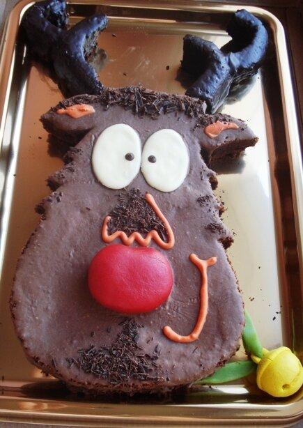 Gâteau renne de Noel