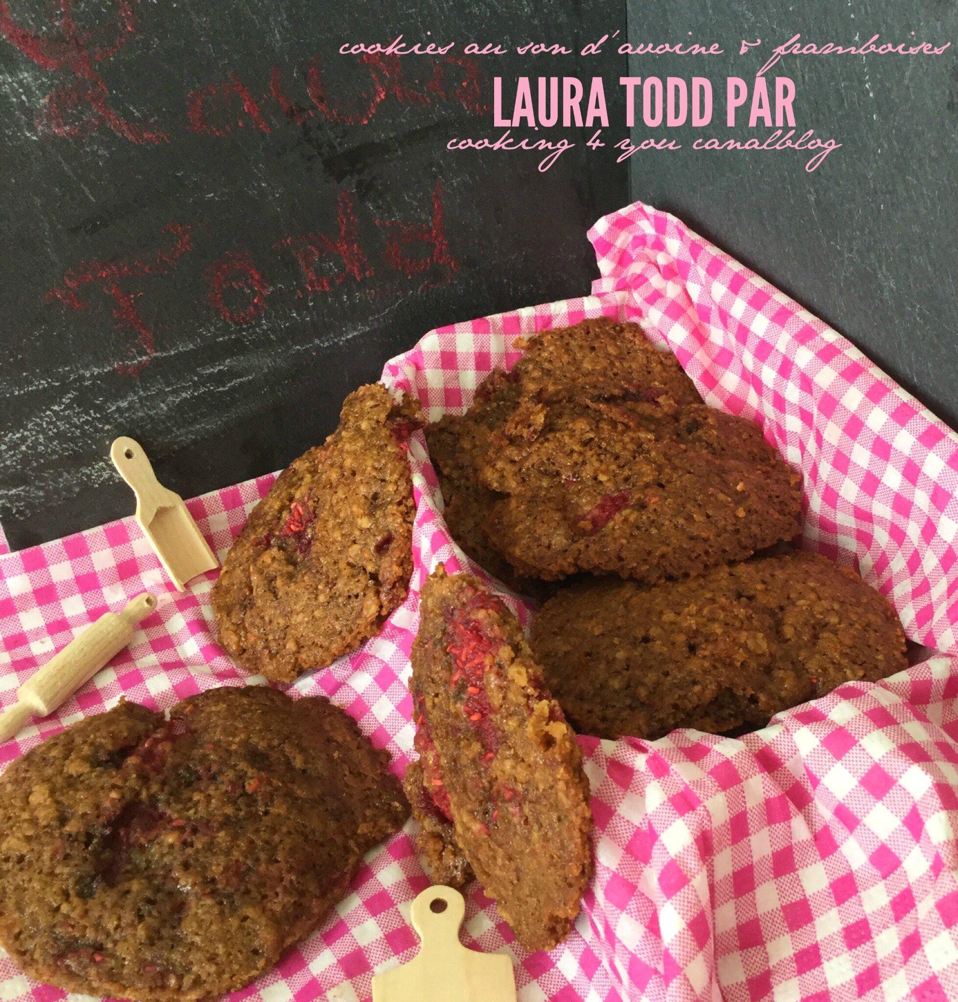 Cookies au son d'avoine & framboises de Laura Todd