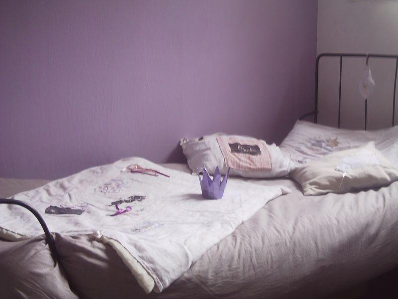 Chambre couleur lavande id es de d coration et de for Peinture couleur lavande