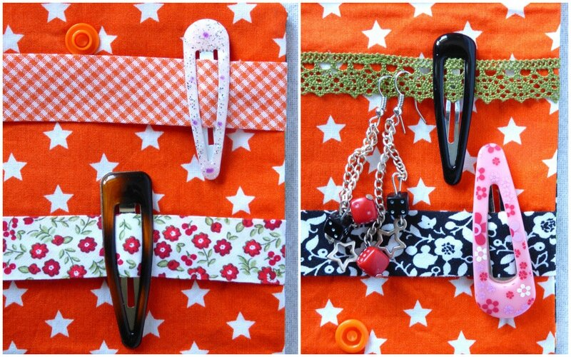 pochette à barrettes mini seventies