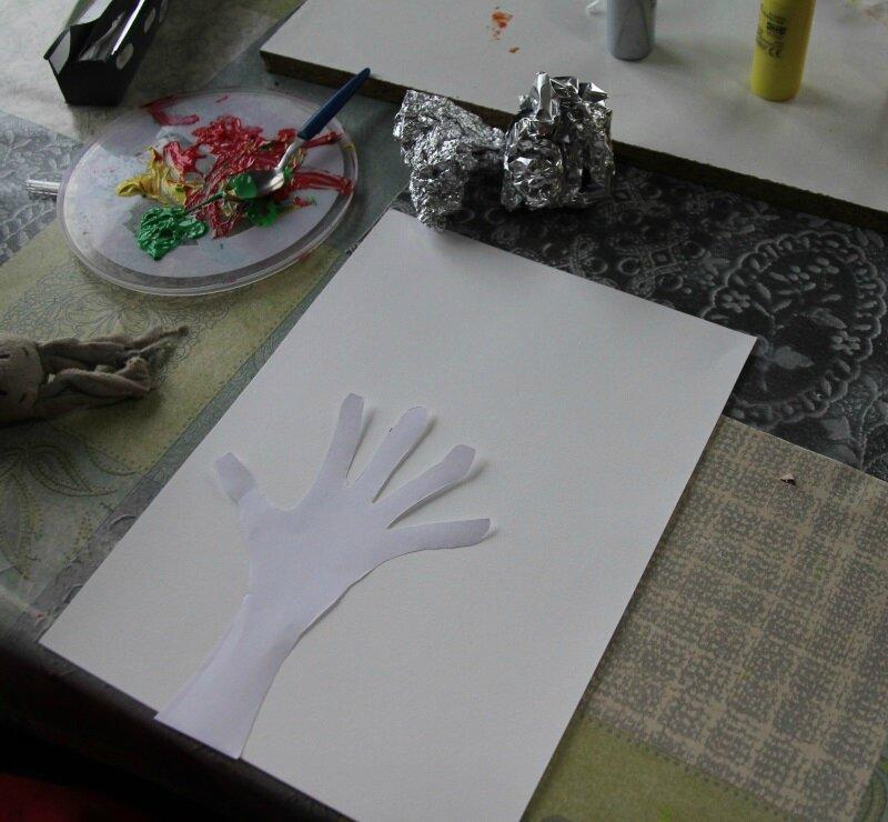 Arbre d'automne peinture alluminium