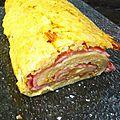 Roulé pommes de terre jambon fromage