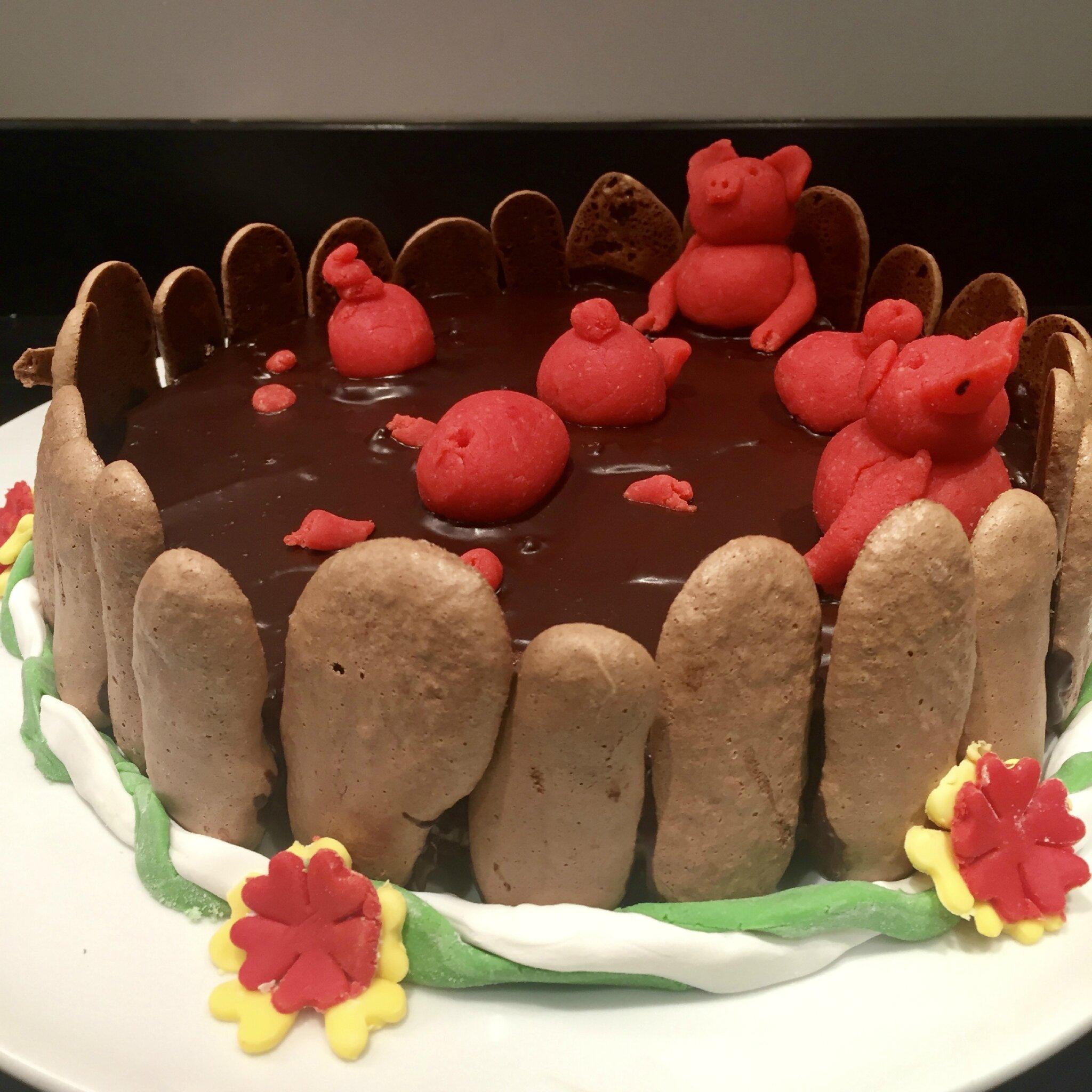 Gâteau cochons