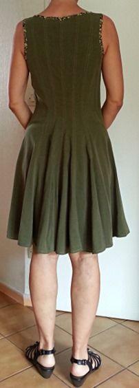 robe olive dos