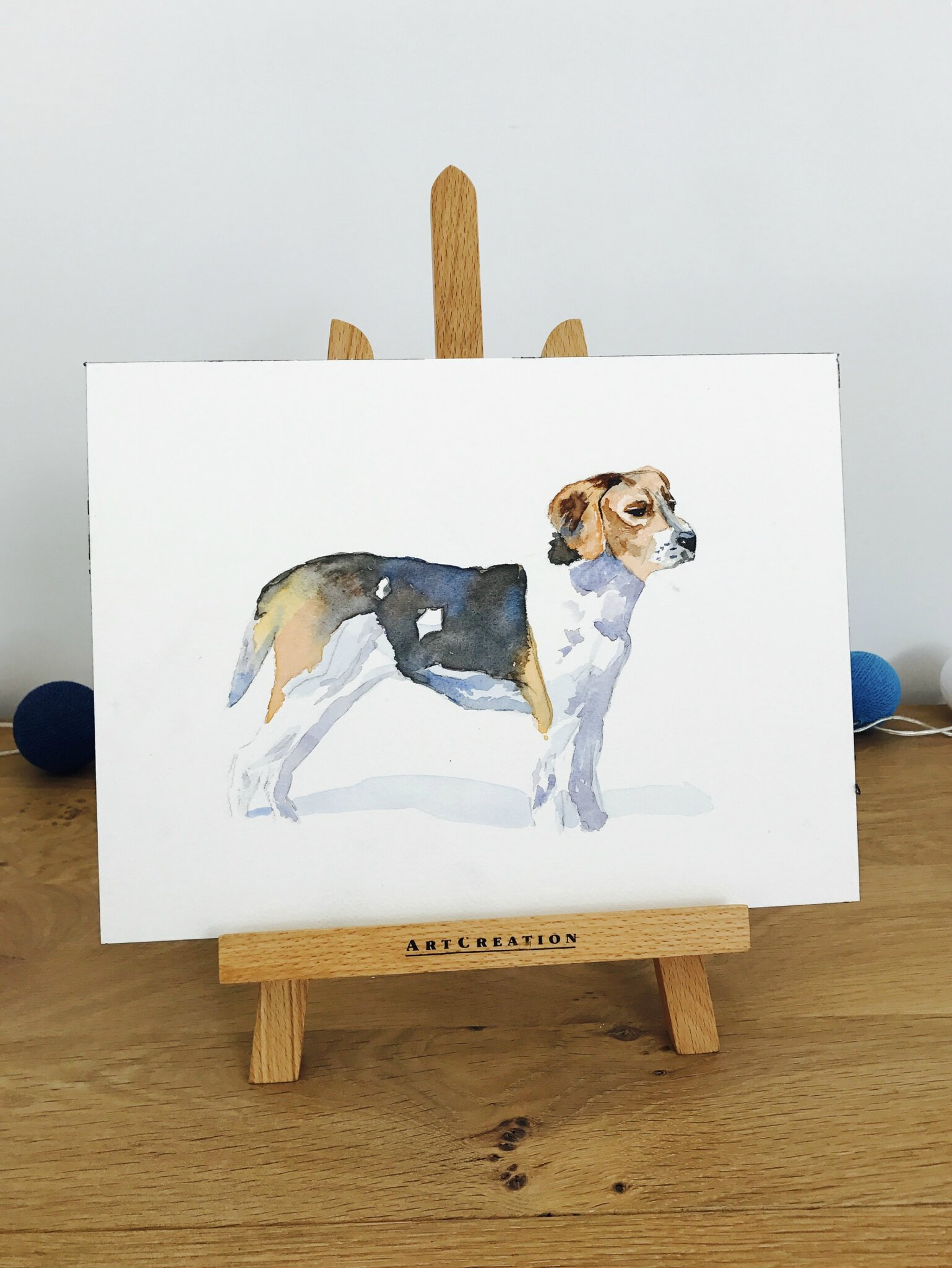 Aquarelle : le beagle