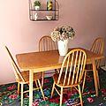 Ensemble table et 4 chaises des années 60