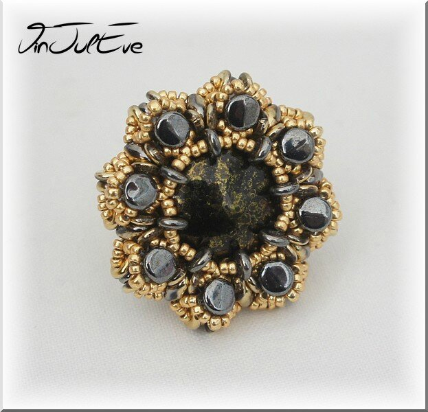 Bague Otavie noir or