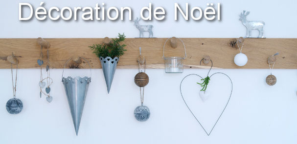 D coration de no l esprit zinc et nature une very stylish fille by changer de d co for Petit objet deco