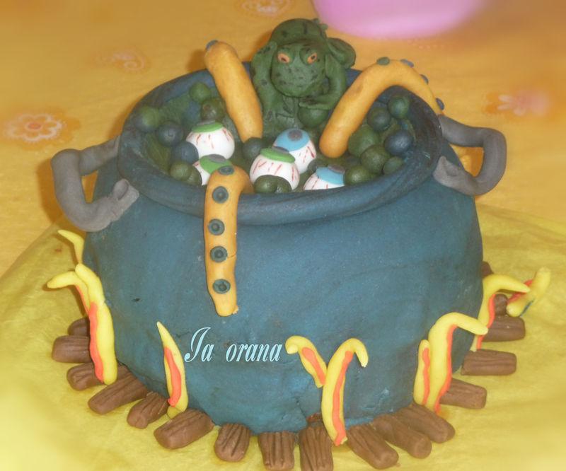 Gâteau Chaudron magique .../Cauldron cake