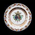 Chinese export porcelain armorial plate, french market, yongzheng period, circa 1724