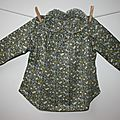 Blouse little girl col volant et patte de boutonnage 1