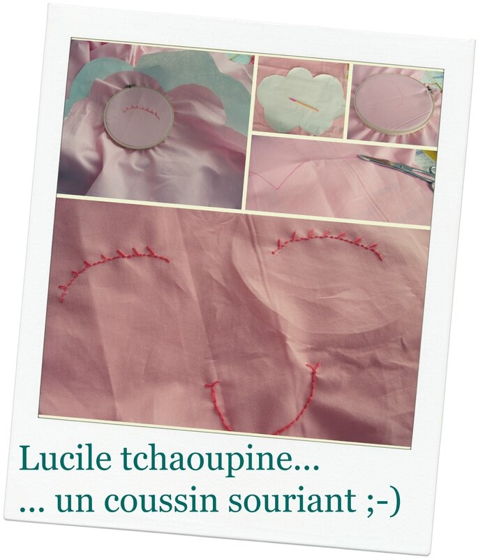 coussin nuage broderie