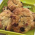 Cookies chocolat blanc, noix de macadamia, camberries