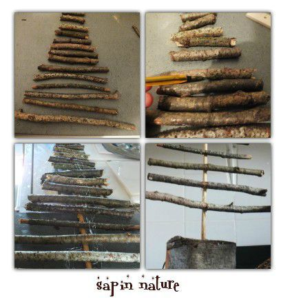 Tuto diy faire un sapin 2 sapin r cup structure inspiration nature st - Comment faire un sapin ...
