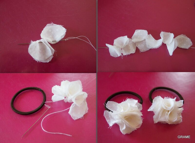 fleurs en tissu pour ses cheveux grame. Black Bedroom Furniture Sets. Home Design Ideas