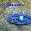 Barrette 4 : elfique bleue