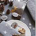 Table de Noël thème Noël au bois