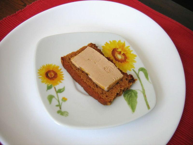 Pour la Saint-Garçon, foie gras sur pain d'épices ! Excellent !