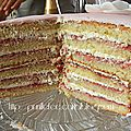 layer cake 40th birthday raspberry and lemon prunillefee