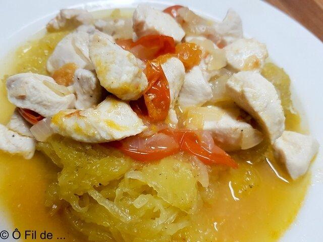 courge spaghetti et poulet au citron (5)