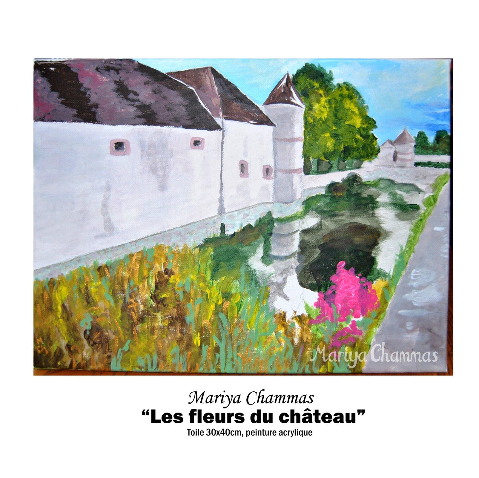 """Tableau """"Les fleurs du château"""""""